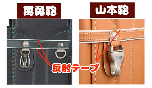 萬勇鞄 ランドセル 比較 反射材